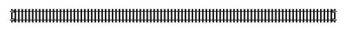 Hornby R603 Long Straight HO/OO Gauge, 670mm