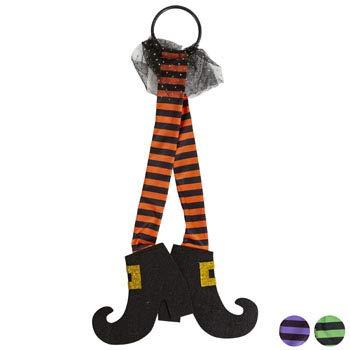 (DollarItemDirect Door Hanger Witch Legs 22IN L 3AST Purple/Lime/Orange Stripe, Case Pack of 36)