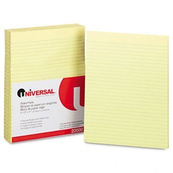 Universal® Ruled Writing Pads PAD,W RULD,PADDED,LTR,CA (Pack of8) by UNVSL