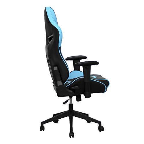 BattleSeat Silla Gaming Cyclone Azul y Negra, diseñada para un público Gamer, Ideal para Combinar Estudio y pasión por los Videojuegos como Fortnite, ...