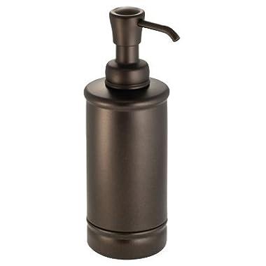 InterDesign 76385 York Metal Soap Pump, 8 Oz, Bronze