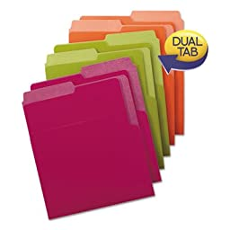 Organized Up Heavyweight Vertical Folders, Assorted Bright Tones, 6/Pack, Sold as 6 Each