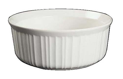 (Corning Ware French White Round Casserole / No Lid ( 2 1/2 Quart ) ( F-1-B ))