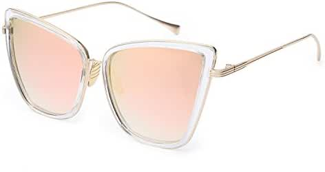 Joopin Fashion Cat Eye Sunglasses Women Retro Transparent Frame Brand Sun Glasses