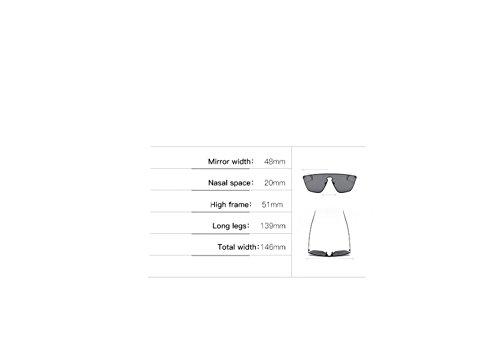 de Espejo Lentes plano de Caja Hombre de Color Arena para de Brillante sol RFVBNM Acero Negra Azul Sol Gafas marco Siamés Sol con de Gafas Tendencia dorado Hielo Gafas Moda Inoxidable xFpqnwU0