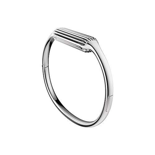 (Fitbit Flex 2 Accessory Bangle, Silver, Small)