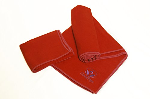 Closeout Clearance Sale! RED Hot Yoga Towels Bleed so You Have to Wash Them Separately. Limited Quantities. You Are Warned Before You Take Advantage of the Deal! (Red)