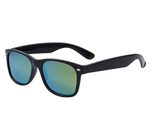 MERRY'S Retro Rewind Classic Polarized Wayfarer Sunglasses S683 (Black&Gold, 53)