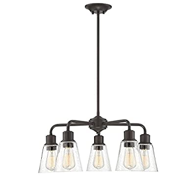 Trade Winds Lighting TW10051ORB 5-Light Transitional Chandelier Ceiling Light, 60 Watts, in Oil Rubbed Bronze