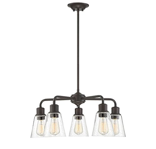 Trade Winds Lighting TW10051ORB 5-Light Transitional Chandelier Ceiling Light, 60 Watts, in Oil Rubbed Bronze ()