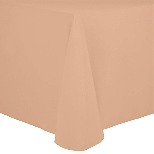 Oval Peach - Ultimate Textile Cotton-feel 60 x 84-Inch Oval Tablecloth Peach