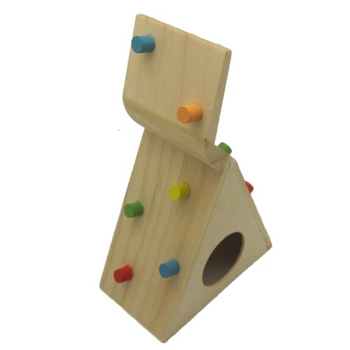 Alfie Pet by Petoga Couture - Small Animal Playground - Jami Wooden Climbing Hideout Toy for Small Animals like Dwarf Hamster and Mouse by Alfie (Image #2)