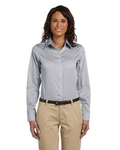 Chestnut Hill Women's Executive Performance Pinpoint Oxford Button Down Dress Shirt CH620W grey Large