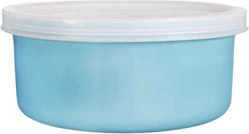 Home Essentials & Beyond Home Essentials Storage Essentials 16 oz Round Baker with Lid, Aqua, , Clear