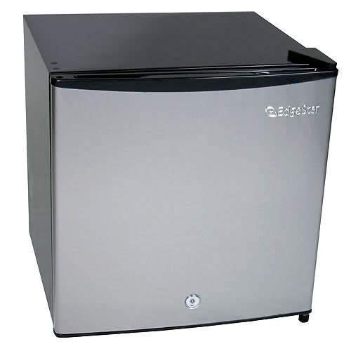 - EdgeStar CRF150SS-1 1.1 Cu. Ft. Convertible Refrigerator or Freezer w/Lock - Stainless Steel