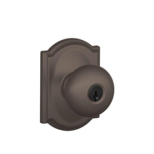 Schlage F51A PLY 613 CAM Camelot Collection Plymouth Keyed Entry Knob, Oil-Rubbed Bronze by Schlage Lock Company