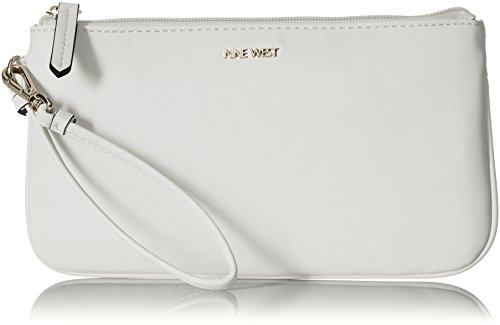 Nine West E/W Wristlet, Optic White, One Size by Nine West