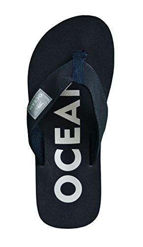 MADSea Zehenstegpantolette Ocean - dunkelblau / weiß