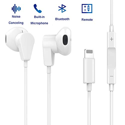 XBRN Headphones,Earbuds with Microphone Earphones Stereo Headphones and Noise Isolating Headset Compitable iP7/7 Plus/8/8Plus/X/XS/XR