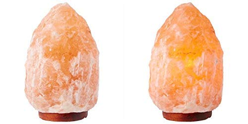 Natural Himalayan Salt Lamp Set of 2 Salt Lamps Dimmable Neem Wood Base Pink Crystal Large Salt Rock Lamp Rock Salt Lamp Natural Salt lamp Pink Salt lamp (2 Himalayan Salt Lamps) by Khewra Salt (Image #8)