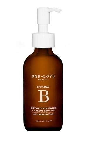 One Love Beauty vitamin b enzyme CLEANSING OIL + MAKEUP REMOVER 4 oz by One Love Beauty
