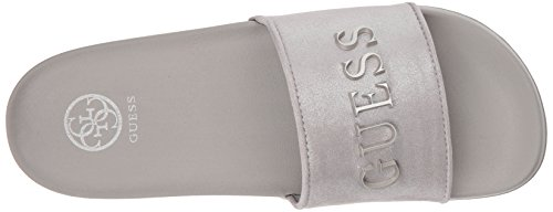 GUESS Slide Womens Silver Womens GUESS Sandal Winnie 7Pfvqpwz