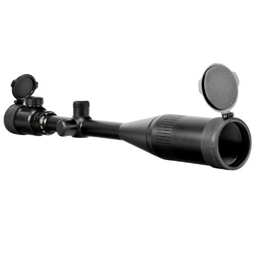 NcStar 8-32X50AOE Red Illuinated Scope Mil-Dot/Green Lens/Ring/Sunshade (SEFM83250G)