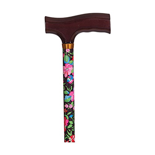 DMI Lightweight Aluminum Walking Cane with Derby-Top Handle, Floral - http://coolthings.us