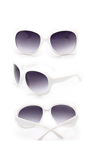 mujer Lenses Designer para de Purple White sol Frame Inspired Gafas wzqzrXB