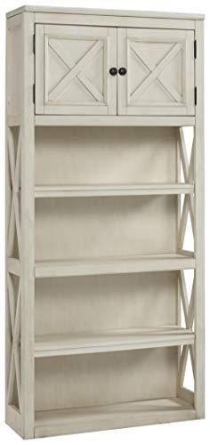 Ashley Furniture Signature Design – Bolanburg Large Bookcase – Casual – 3 Shelves/1 Cabinet – Antique White Finish Review