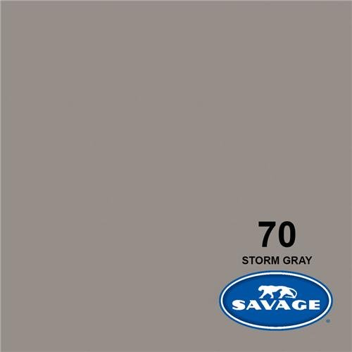 Savage Widetone Seamless Background Paper 140 in x 105 ft - Storm Gray 70-140 by Savage