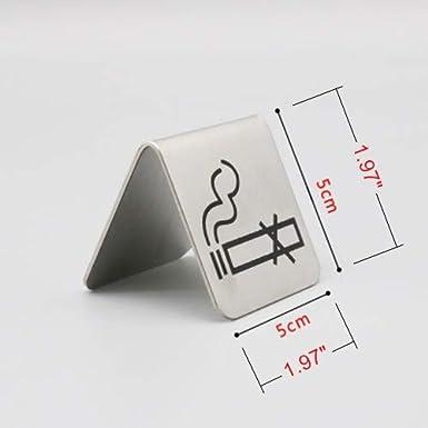 Amazon.com: 2 carteles de acero inoxidable para tienda de ...