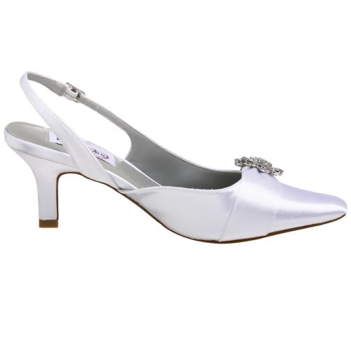 Chaussures Taille Satin De Blanc Uk Lori Mariée 7 En RwfHqZ