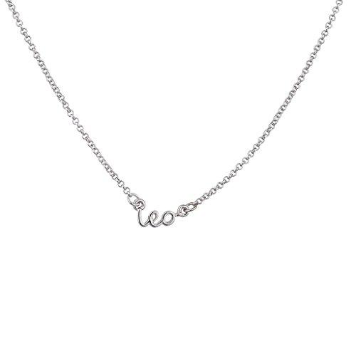 e1ec763d13d40 Lux Accessories Horoscope Zodiac Sign Leo Silvertone Necklace
