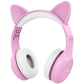 ed97f3e4018 iClever Kids Headphones - Wired Headphones for Kids Stereo Sound Adjustable  Headband Cat Ear Microphone Foldable