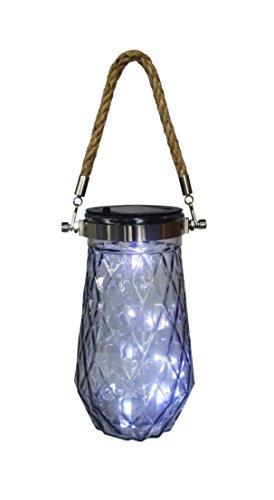 Inspire and Imagine LED Solar Glass Jar Light Inside Outside Decor (gray) by Inspire and Imagine