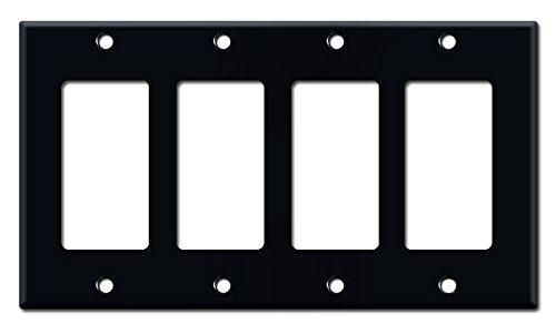 マットブラック電気メタル壁プレート カバースイッチプレート & & コンセントカバー コンセントカバー B01DE6ZVQE CSHSP B01DE6ZVQE, オーストリッチサンエー:a23b3b08 --- itxassou.fr
