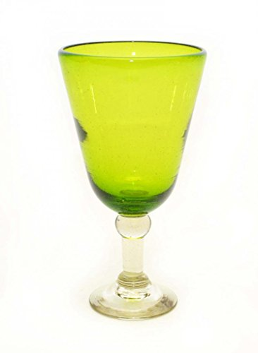 SET OF 4, LEMON LIME WATER GOBLETS-14 OUNCES. RECYCLED - Laredo Water