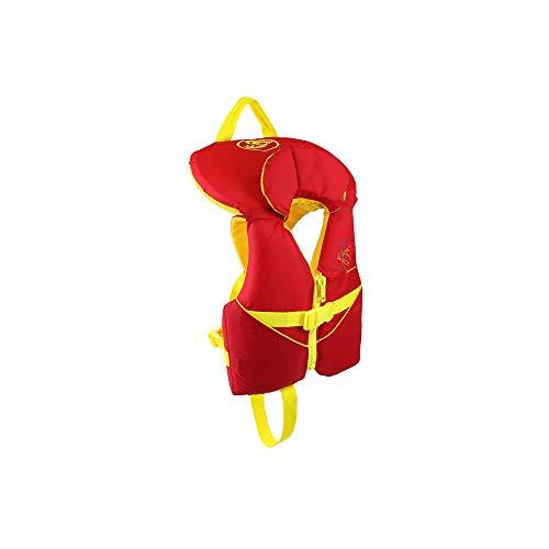 Stohlquist Waterware Kids Life Jacket Coast Guard Approved Life Vest for Children,Orange/Yellow,30 - 50 lbs
