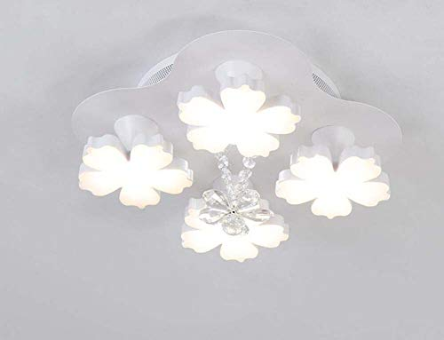 Mamrar Creative Acrylic Disc Plum Blossom Ceiling Light 4/7/13 Heads Chandelier Living Room Dining Room Balcony Deco Ceiling Lighting Lamp,4Heads
