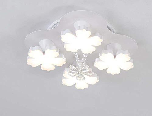 - Mamrar Creative Acrylic Disc Plum Blossom Ceiling Light 4/7/13 Heads Chandelier Living Room Dining Room Balcony Deco Ceiling Lighting Lamp,4Heads