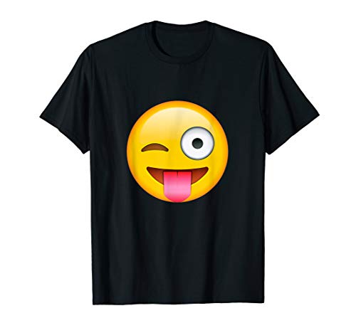 Face Emoticon Tongue Out Emoji with Winking Eye -