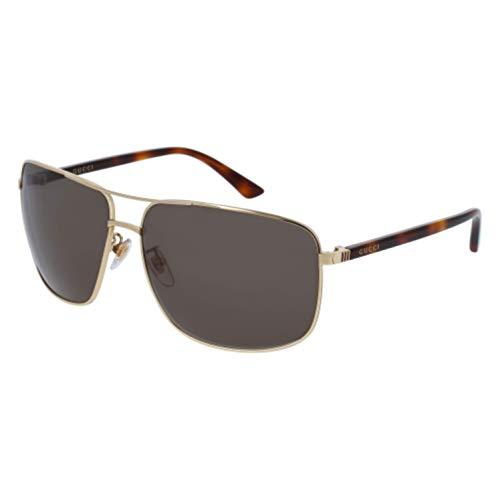 Gucci Men GG0065SK 66 Gold/Green Sunglasses 66mm