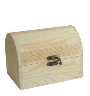Caja baúl pino. Ancho: 16.5 cms. En madera de pino crudo, para pintar.: Amazon.es: Hogar