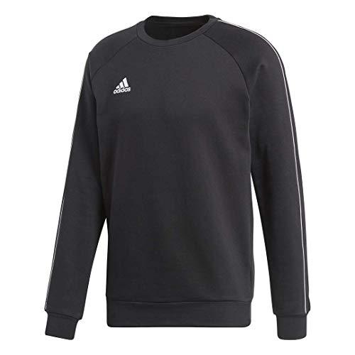 (adidas Men's Core 18 Soccer Sweatshirt, Black/White, X-Large)