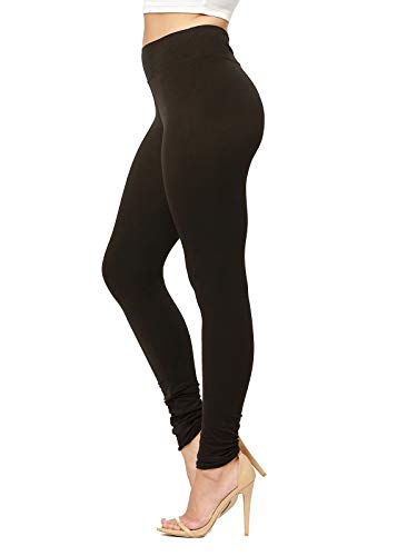 Conceited Super Soft High Waisted Leggings for Women - Full Length Midnight Black - Small/Medium (0-10)