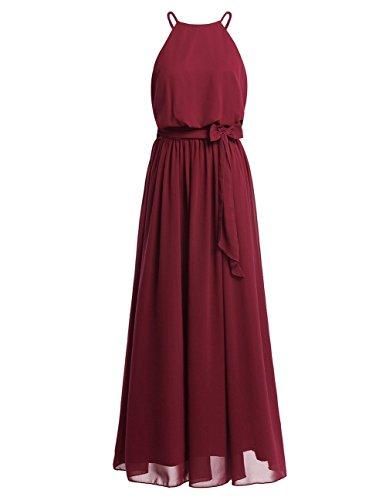 abce51916e49e Bretelles Demoiselle Fille Taille Rouge Élégance Femme De Mousseline En  Cocktail Iiniim Longue Simple Jupe Casual Mariage ...