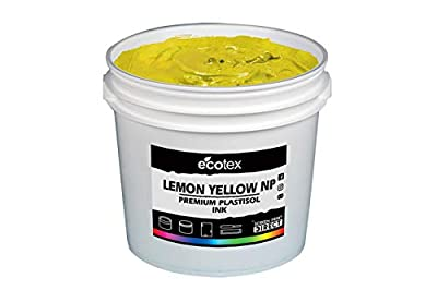 Ecotex Lemon Yellow NP Plastisol Ink for Screen Printing - Non Phthalate Formula - All Sizes
