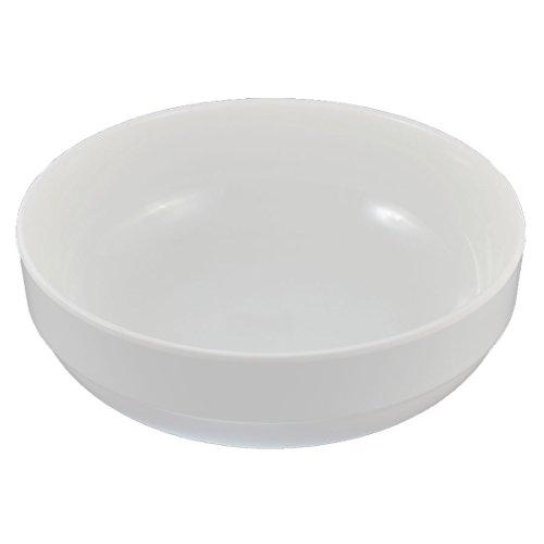 Küche Kunststoff Suppe Brei Lebensmittel Nudel Reisschüssel Weiß 20cm x 7cm