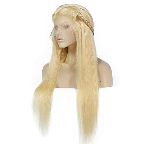 Betterluse Blonde Wigs 180% Density Silky Straight Brazilian Remy Human Hair lace front Wig